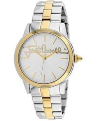 Just Cavalli Logo Watch - Metallic