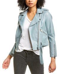 Walter Baker Allison Leather Jacket - Blue