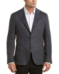 Ermenegildo Zegna Z Houndstooth Wool-blend Blazer - Gray