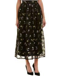St. John Silk-blend Maxi Skirt - Black