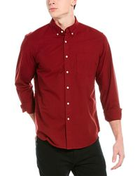 J.Crew Slim Fit Woven Shirt - Red