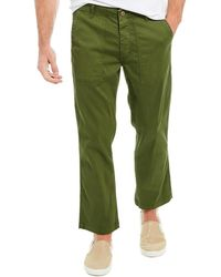 AG Jeans Turner Fatigue Spruce Loose Crop Military Pant - Green