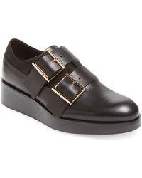 Tibi Petra Leather Oxford - Black