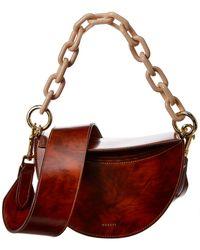 Yuzefi Doris Half Moon Leather Shoulder Bag - Brown
