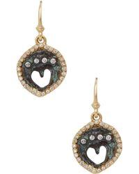Armenta - 14k Yellow Gold Sueno Diamond Petite Artifact Drop Earrings - Lyst