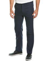 Theory Marlo Plaid Wool Pant - Blue