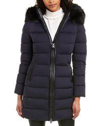 Mackage Calla-x Down Leather-trim Jacket - Blue