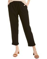 Eileen Fisher Stretch Crepe Ankle Pant - Black