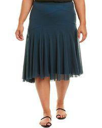 Fuzzi Plus A-line Skirt - Green