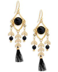 Chan Luu - Gemstone And Sterling Silver Tassel Drop Earrings - Lyst
