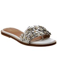 Seychelles Sunbathe Leather Sandal - White