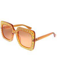 Gucci Crystal-embellished Oversized Sunglasses - Orange