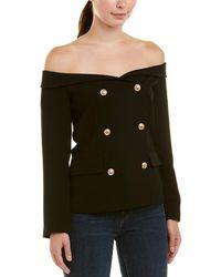 Bardot Off-the-shoulder Blazer - Black
