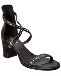 Zadig & Voltaire May Leather Sandal - Black