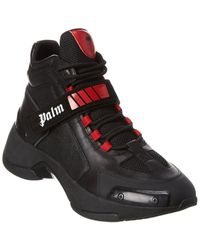 Palm Angels Leather Sneaker - Black