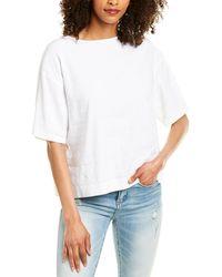 Vince Linen-blend T-shirt - White