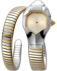 Just Cavalli Women's Glam Chic Two-tone Cuff Watch, 22mm - Multicolor