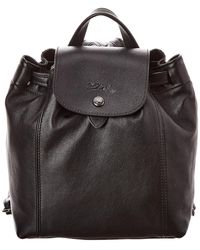 Longchamp Le Pliage Cuir Xs Leather Backpack - Black