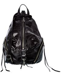 Rebecca Minkoff Medium Julian Leather Backpack - Black