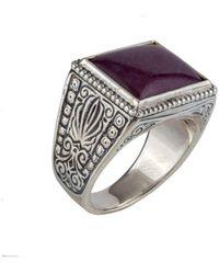 Konstantino Heonos Silver Ruby Root Ring - Metallic
