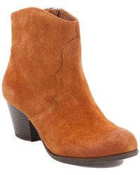 Lucky Brand Tablita Suede Ankle Boot - Brown