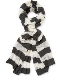 White + Warren - Mixed Stripe Scarf - Lyst