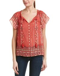 Joie Arevig Silk-blend Top - Red