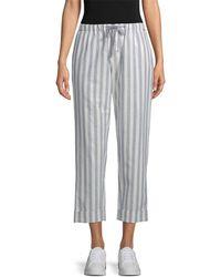 Rebecca Minkoff Striped Cropped Pant - Gray