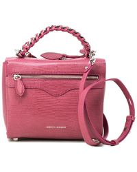 Rebecca Minkoff Chain Leather Satchel - Pink