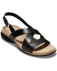 Cole Haan Original Grand Leather Sandal - Black
