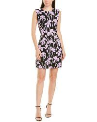 MILLY Gina Shift Dress - Purple