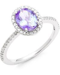 Effy - Diamond, Tanzanite And 14k White Gold Ring - Lyst