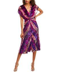 Prabal Gurung Jackie Silk-blend Midi Dress - Purple