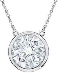 Diana M. Jewels . Fine Jewelry 18k 1.30 Ct. Tw. Diamond Pendant - Metallic