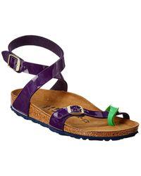 Birkenstock Yara Birko-flor Patent Sandal - Purple