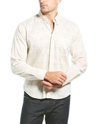 Billy Reid Tuscumbia Hive Standard Fit Woven Shirt - White