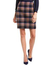 Max Mara Weekend Marmo Wool-blend Mini Skirt - Blue