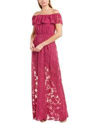 Rachel Zoe Clea Silk-blend Gown - Purple