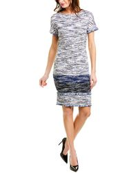 St. John Wool-blend Sheath Dress - Blue