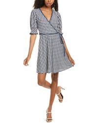 Max Studio Wrap-look A-line Dress - Blue