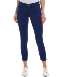 J Brand Anja Clean Electric Sea Cuffed Crop - Blue