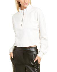 Pam & Gela Cropped 1/2-zip Sweatshirt - White
