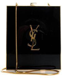 Saint Laurent Limited Edition Black Plexiglass Tuxedo Box Minaudiere Crossbody