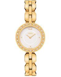 Fendi My Way 28mm Jewellery Watch W/ Diamonds Gold - Metallic