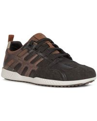 Geox Snake.2 Leather-trim Trainer - Multicolour