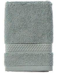 Frette Elisa Border Washcloth - Blue