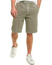 James Perse Tailored Linen-blend Short - Grey
