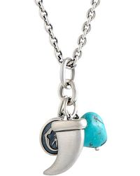 Charriol Stainless Steel Turquoise Necklace - Blue
