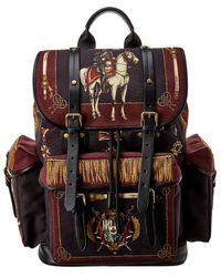 Dolce & Gabbana Canvas & Leather Backpack - Red