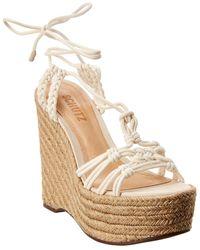 Schutz Macris Wedge Sandal - White